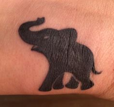 Super cute! My new little #elephant tattoo.