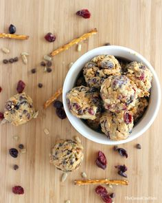 No Bake Trail Mix Energy Bites by www.thecasualcraftlete.com