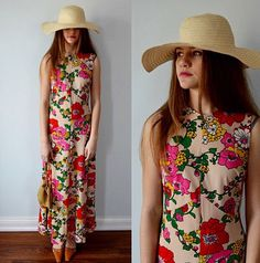 A personal favorite from my Etsy shop https://www.etsy.com/ca/listing/285620653/vintage-dress-vintage-maxi-dress-summer