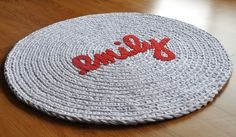 Emily Crochet Applique Rag Rug SALE by ekra on Etsy