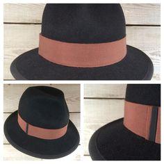 Heren hoed vilt, zwart.