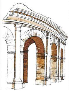 HISTÓRIA DA ARQUITETURA - Roma - História da Arquitetura (Arco Romano)