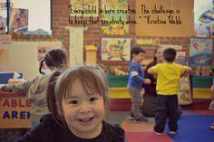 """""""Cada niño nace creativo. El reto es mantener viva esa creatividad.""""-Kristina Webb #aCreativeDC #SEDCenter #Petworth #DailyQuote #ValueOfTheMonth #Creativity #KristinaWebb"""