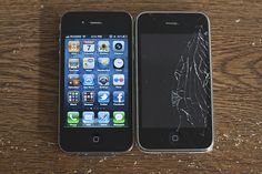 Brand new iPhone 4 vs old iPhone 3G (White)