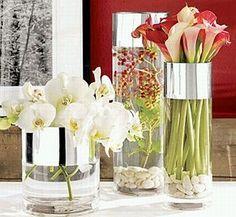 Cilindros de vidrio para centros de mesa | Descubre un Cigarral de leyenda en: www.cigarraldelangelcustodio.com