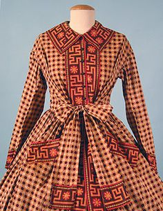 I'm not a fan of the pattern/color combo but I love the pockets!  Cotton Wrapper c. 1860 Session 2 - Lot 557 - $650