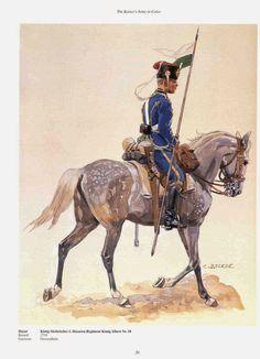 German; 18th Hussar Regiment Konig Albert(2nd Saxon), Hussar c.1905. raised 1734. Home Depot Grossenhain. XII Army Corps