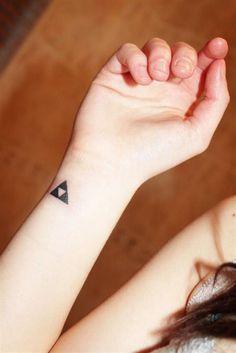 Minimal tattoo www.tattoodefender.com Triforce