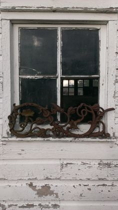 Antique Rusty Cast Iron Flowering Vine Panel by OldHouseChic, $35.00
