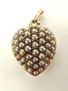 Victorian 9ct Gold Seed Pearl Hair LOCKET Pendant / Charm from m4gso on Ruby Lane