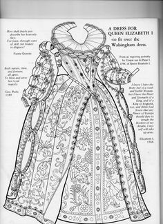 Elizabethan gown and collar Mode Renaissance, Costume Renaissance, Medieval Costume, Renaissance Fashion, Renaissance Clothing, Antique Clothing, Elizabethan Clothing, Elizabethan Costume, Elizabethan Fashion