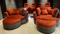 Valentino leather for luxurious custom-built theater chairs
