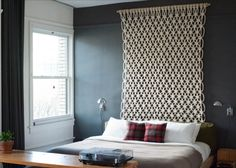 """Macramé """"Headboard"""" by Sally English 