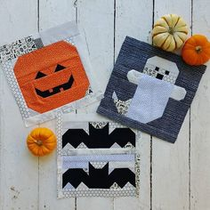 Looking for something fun, fast, and FREE to start for Halloween? These not-so-spooky Halloween blocks that I designed last year have free… Halloween Quilt Patterns, Halloween Quilts, Halloween Blocks, Spooky Halloween, Halloween Sewing, Fall Sewing, Quilting Projects, Quilting Designs, Sewing Projects