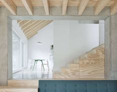 Contemporary single family house located in Tuttlingen, Germany, recently designed by Yonder. London Apartment, Apartment Interior, Concrete Slab, Two Story Homes, House Stairs, Conceptual Design, Story House, Cabins In The Woods, Residential Architecture