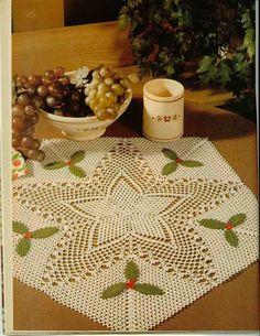 Magic Crochet n° 50 - leila tkd - Álbuns da web do Picasa...Star of Wonder holiday table mat...pattern and diagrams!!