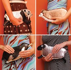 Animal Clutches by Tsuru Bride.