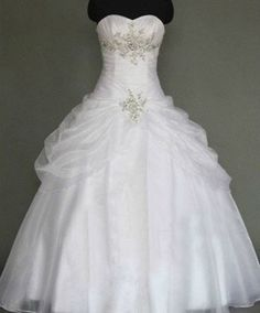 it's almost perfect for a princess style for me but if possible, would like the bottom to have some more flare and accents instead of a straight hemline. and the material does look a little cheap  -- Beautiful princess style wedding dress! Wouldn't d love with purple accents