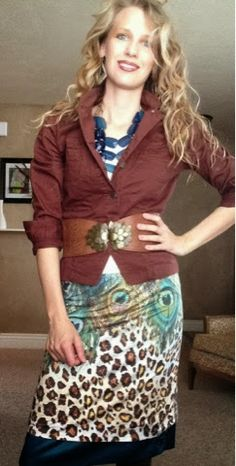 Peacocks and Leopards : You're wearing a what!? Shirt to skirt & back again.