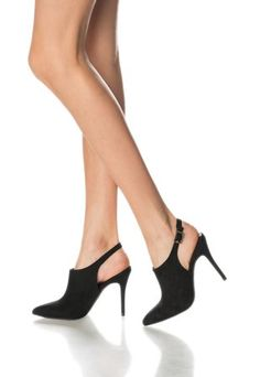 Pantofi slingback negri cu toc stiletto Vespa