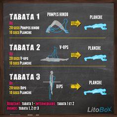 12 minutes d'exercices Tabata au poids du corps du 24/09/2014