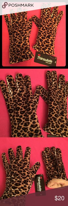 1 PR LEFT! Animal Print Gloves Cejon Animal Print Gloves. OS. Soft Fabric Inside & Outside. Thinsulate Isolation: 30 Gram. 90% Polyester/10% Spandex. Tan Fleece Lining. Elasticized Backs. Gloves come right below your wrists. Excellent Condition. Brand New. No Trades. Cejon Accessories Gloves & Mittens