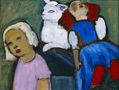 Puppe, Katze, Kind   -   Gabriele Münter 1937  Expressionism
