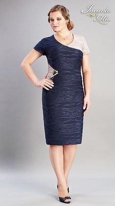 Платья больших размеров белорусского бренда Inkanto Mio. Весна-лето 2013 Casual Dresses, Dresses For Work, Formal Dresses, Fabulous Dresses, New Trends, Blazer, Plus Size, Church Weddings, Womens Fashion