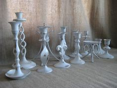 Cottage Chic Wedding Candle Holder Collection in by dewdropdaisies, $88.00