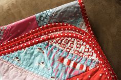 How to make rounded corners on your quilt.