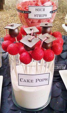 Graduation cake pops...