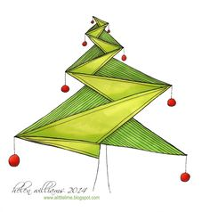 a little lime: Journal 13 Wrap Up - part 2 - ING Christmas tree by Helen Williams Doodle Patterns, Card Patterns, Zentangle Patterns, Zentangle Drawings, Doodles Zentangles, My Drawings, Christmas Tag, Christmas Graphics, Winter Christmas