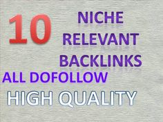 manually do 10 niche relevant links for your theme by seo_jainy