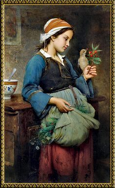 art by-Emile Auguste Hublin (1830 - 1891, French