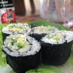 Sushi Roll Recipe -this is delish!