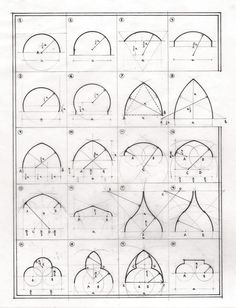 sandroarienzo: 27 tipologías de arcos Post Crisis Banking Architecture - The (Virtual) Office The su Gothic Architecture Drawing, Geometry Architecture, Arch Architecture, Geometry Art, Historical Architecture, Classical Architecture, Morrocan Architecture, Islamic Architecture, Architecture Portfolio