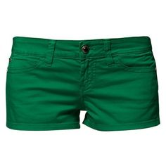 Miss Sixty CHARLOTTE ($26) ❤ liked on Polyvore featuring shorts, bottoms, pants, short, miss sixty shorts, green shorts, short shorts and miss sixty