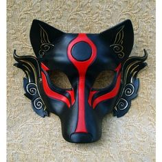 Venetian Fox Mask handmade leather mask ❤ liked on Polyvore featuring costumes, accessories, masks, fox costume, fox halloween costume, fancy halloween costumes and leather costume