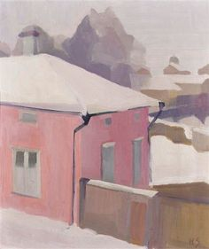 A View of a Yard in Tammisaari, 1919 by Helene Schjerfbeck on Curiator, the world's biggest collaborative art collection. Sale Artwork, Cool Artwork, Helene Schjerfbeck, Artist Inspiration, Digital Museum, Painting, Winter Painting, Paintings I Love, Original Art