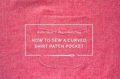 Sewing a Curved Shirt Patch Pocket // Kalle Sewalong | Closet Case Patterns