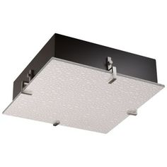 3form Clips 16 Inch Square Ceiling/Wall Light by Justice Design Group