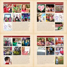See all my 2013 #Project365 layouts in one post! #scrapbooking #digiscrap