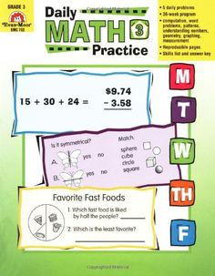 Daily Common Core Math Practice, Grade 3 - Teacher's Edition by Evan-Moor Educational Publishers