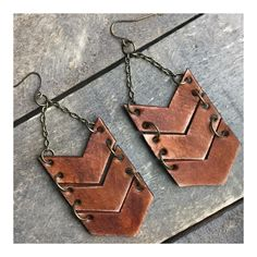 """0 Likes, 1 Comments - Sweet Creek Leather (S•C) (@sweetcreekleather) on Instagram: """"Leather Chevron Arrow Earrings available on-line. NEW colors coming your way.....Aqua, Gold, Coral,…"""""""