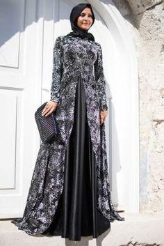 Francois J. Dress Brukat, Kebaya Dress, Batik Dress, Islamic Fashion, Muslim Fashion, Evening Dress Patterns, Evening Dresses, Abaya Fashion, Fashion Dresses