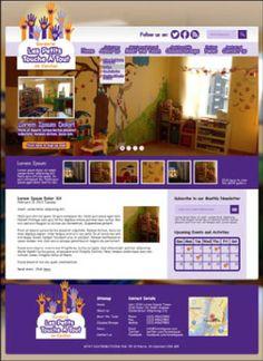 A website I designed I designed for Les Petits, a pre-school in Vancouver Canada.