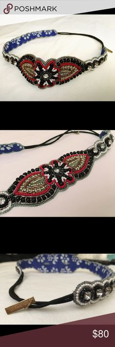 Beaded Hair Band DEEPA GURNANI Intricate beaded hair band - accessorize your hair and complete the outfit!  Instant fix for bad hair day!    ❌No Trades DEEPA GURNANI Accessories Hair Accessories