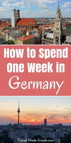When planning your Germany itinerary, pick a few of the highlights and don't rush. Take in Germany's scenery, food, culture and history one piece at a time. Here are some ideas for how to spend one week in Germany. travel to Germany Cities In Germany, Visit Germany, Germany Travel, Hamburg Germany, Trip To Germany, Germany Poland, Europe Travel Tips, European Travel, Travel Destinations