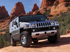 Hummer H2 SUV on top of the hill. Hummer was the greatest SUV from 1992 to 2008. Chicago party scene loved the Hummer: from regular trucks to Chicago Stretch limos, the Hummer was the ultimate way to ride in style.