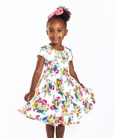 Take a look at this Pink Vanilla Mint & Coral Floral Cap-Sleeve Dress - Girls today! Kids Outfits Girls, Kids Girls, Baby Kids, Girl Outfits, Girls Dresses, Summer Dresses, Mint Coral, Pink, Sweet Style